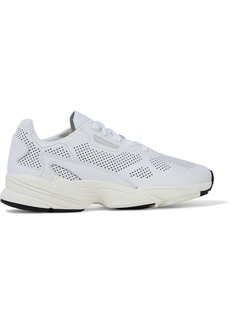 Adidas Originals Woman Falcon Alluxe Perforated Leather Sneakers White