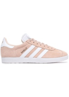 Adidas Originals Woman Gazelle Leather-trimmed Suede Sneakers Neutral