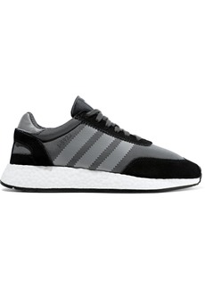 Adidas Originals Woman I-5923 Leather And Suede-trimmed Neoprene Sneakers Gray