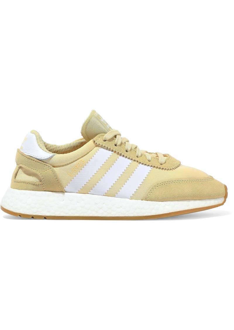 Adidas Originals Woman I-5923 Suede-paneled Neoprene Sneakers Yellow