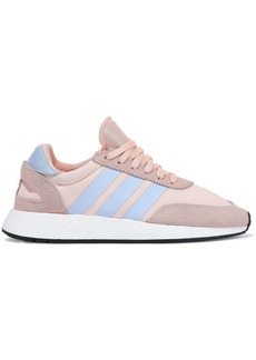 Adidas Originals Woman I-5923 Leather And Suede-trimmed Neoprene Sneakers Blush