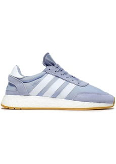 Adidas Originals Woman I-5923 Suede-trimmed Knitted Sneakers Light Blue
