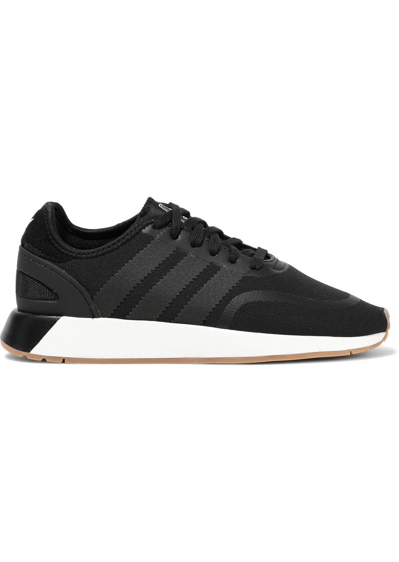 Adidas Originals Woman N-5923 Leather-trimmed Neoprene Sneakers Black