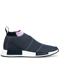 Adidas Originals Woman Nmd Cs1 Stretch-knit Sneakers Navy