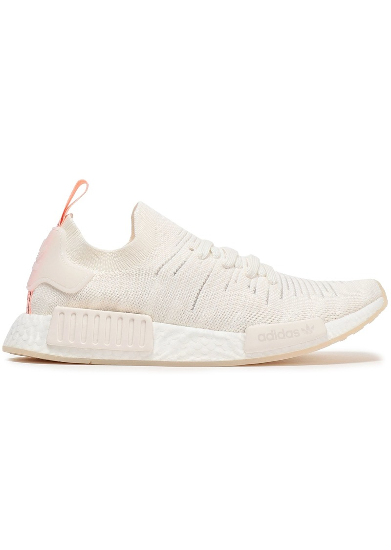 Adidas Originals Woman Nmd R1 Stretch-knit Sneakers Ivory