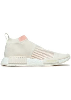 Adidas Originals Woman Nmd_cs1 Rubber-trimmed Primeknit Sneakers White