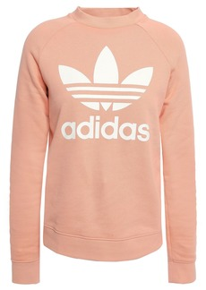 Adidas Originals Woman Printed French Cotton-terry Sweatshirt Peach