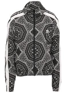Adidas Originals Woman Printed Shell Track Jacket Black