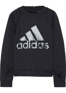 Adidas Originals Woman Printed Stretch-jersey Sweatshirt Black