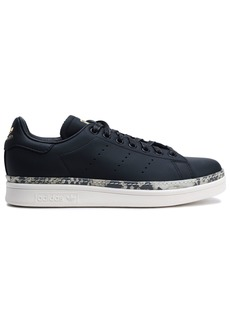 Adidas Originals Woman Stan Smith New Bold Perforated Leather Sneakers Black