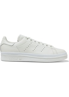 Adidas Originals Woman Stan Smith New Bold Perforated Leather Sneakers Ecru