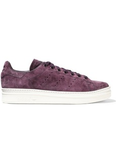 Adidas Originals Woman Stan Smith New Bold Perforated Suede Sneakers Purple