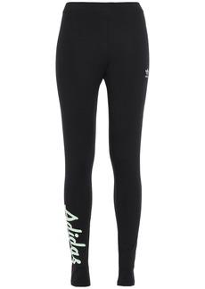 Adidas Originals Woman Stretch-cotton Jersey Leggings Black