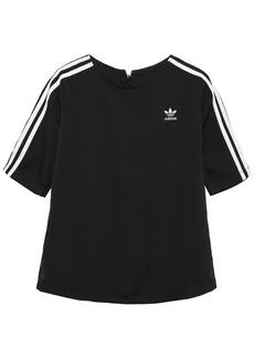 Adidas Originals Woman Striped Crepe T-shirt Black