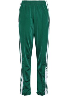 Adidas Originals Woman Striped Jersey Track Pants Emerald