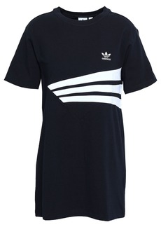 Adidas Originals Woman Striped Stretch-cotton Jersey T-shirt Black