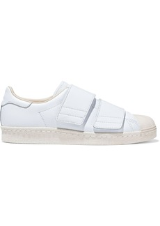 Adidas Originals Woman Superstar 80s Cf Rubbed-trimmed Leather Sneakers White
