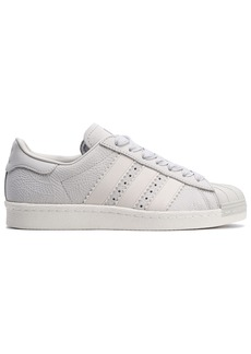 Adidas Originals Woman Superstar 80s Textured-nubuck Sneakers Off-white