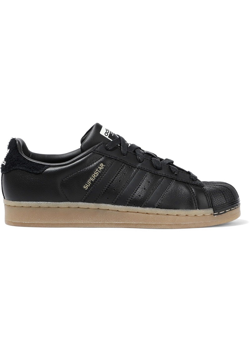 Adidas Originals Woman Superstar Leather Sneakers Black
