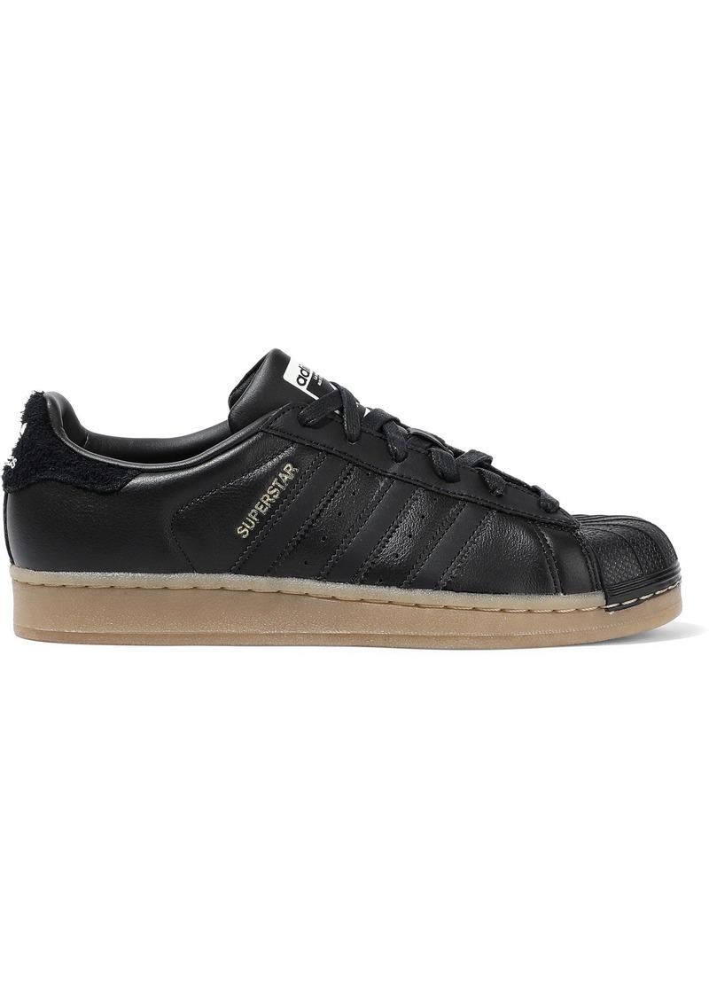 Adidas Originals Woman Superstar Leather Sneakers Black