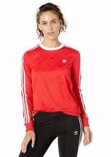 adidas Originals Women's 3-Stripes Long Sleeve Tee