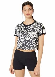 adidas Originals Women's 3 Stripes T-Shirt ecru tint/black