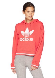 adidas Originals Women's Active Icons Cropped Hoodie  M