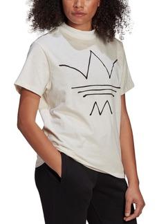 adidas Originals Women's Cotton Mock-Neck T-Shirt