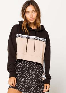 adidas Originals Women's Cropped Hooded Sweatshirt ash Pearl/Black