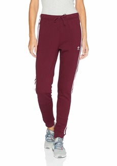 adidas Originals Women's Cuffed Trackpants maroon L