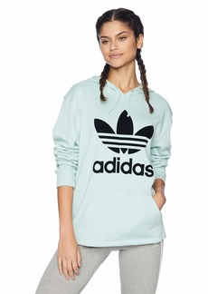 adidas Originals Women's Fashion League Hooded Sweater ash Green L