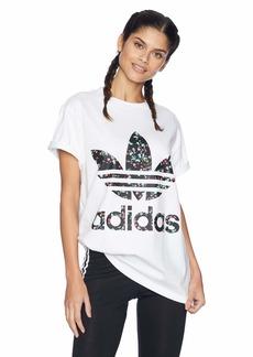 adidas Originals Women's Fashion League Trefoil Tee  2XS