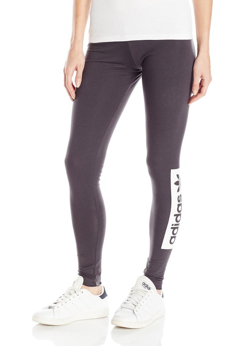 adidas Originals Women's Leggings Shadow Black/White/Black S