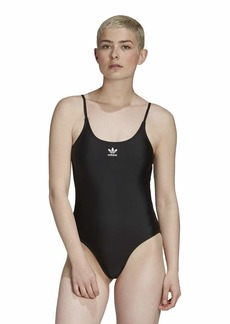 adidas Originals womens Large Logo Swimsuit