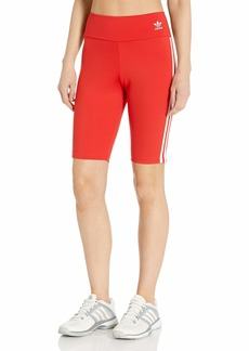 adidas Originals Women's Short Tights lush red/White 2XS
