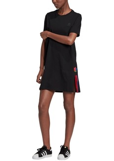 adidas Originals Women's Sonic Trefoil Cotton T-Shirt Dress