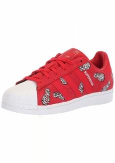 adidas Originals Women's Superstar Sneaker Scarlet/White