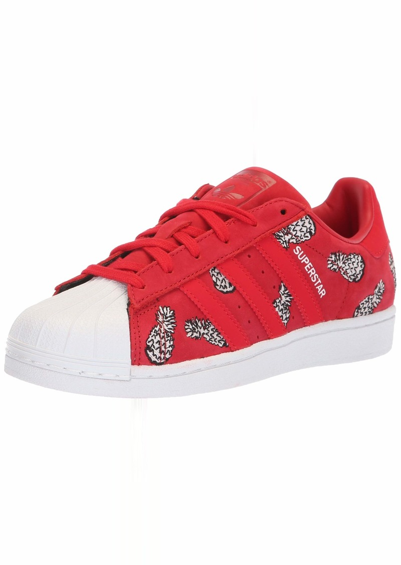 adidas Originals Women's Superstar Sneaker Scarlet/White