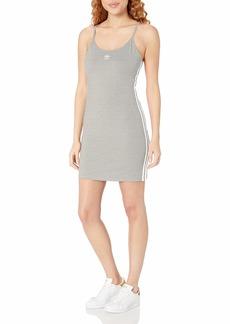 adidas Originals Women's Tank Dress  Grey Heather/White M