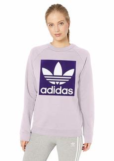 adidas Originals Women's Trefoil Crewneck Sweatshirt soft vision