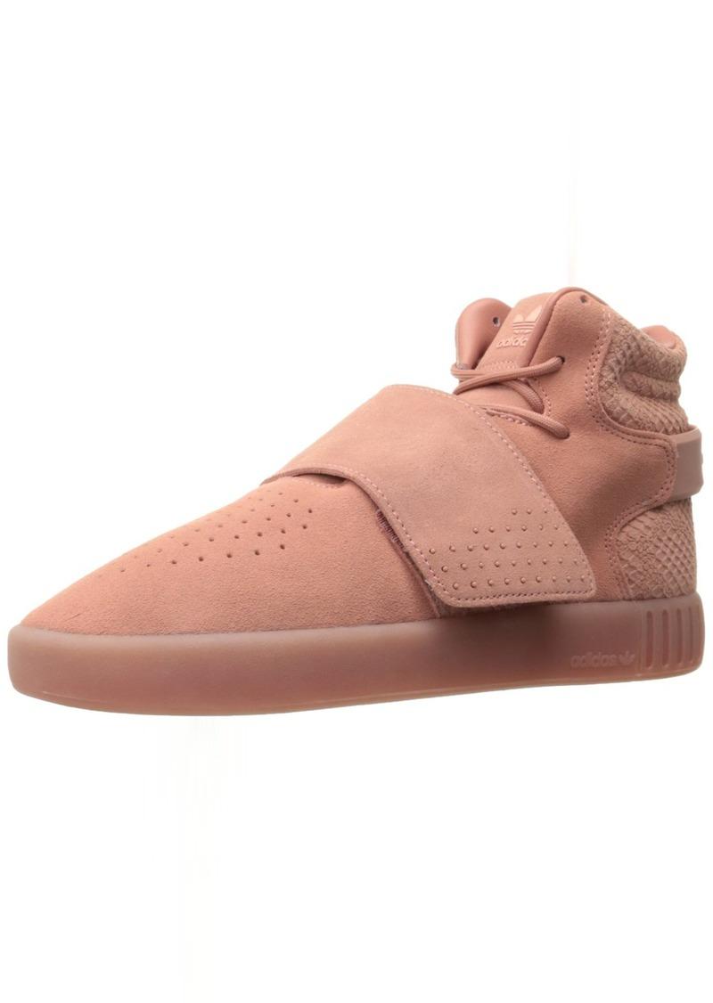 adidas Originals Women's Tubular Invader Strap Fashion Running Shoe Raw Pink Still Breeze F (( M US)