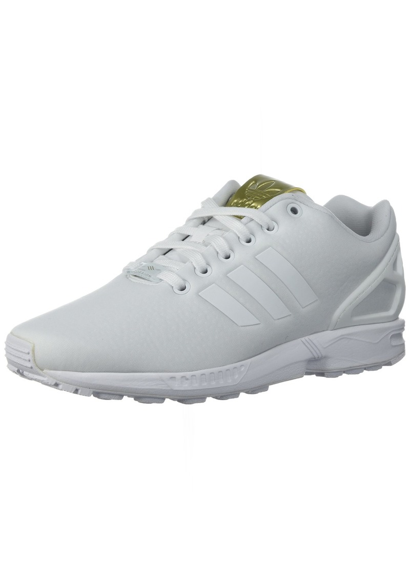 adidas Originals Women's ZX Flux W Running Shoe White/Metallic Gold  Medium US