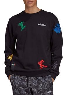 adidas Originals x Disney Goofy Appliqué Crewneck Sweatshirt