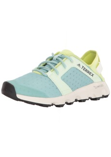 adidas outdoor Women's Terrex CC Voyager Sleek Walking Shoe ash aero Green/semi Frozen Yellow  M US