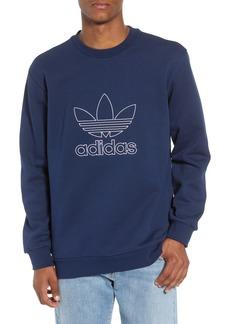 adidas Outline Trefoil Crewneck Sweatshirt