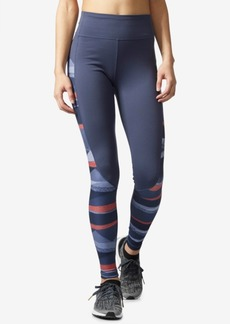 adidas Performer Camono ClimaLite Striped High-Rise Compression Leggings
