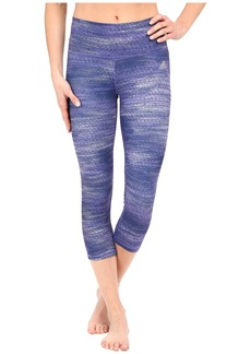 adidas Performer Mid Rise 3/4 Tights - Macro Heather Print