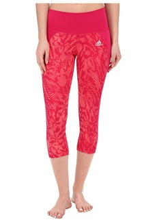 adidas Performer Mid-Rise 3/4 Tights – Poison Ivy Print