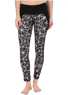 adidas Performer Mid Rise Long Tights - Geo Web Print