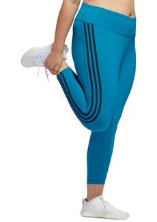 adidas Plus Size Believe This 3-Stripe High-Rise Leggings
